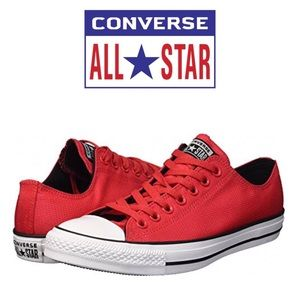 Converse All Star CTAS OX Red Unisex Mens 13
